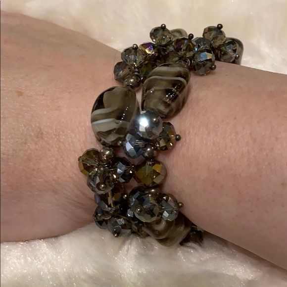 🆕 NEW Pair of Crystals &Murano Glass bracelets!!!